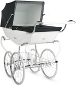 Спальная коляска Silver Cross Balmoral Pram White Navy